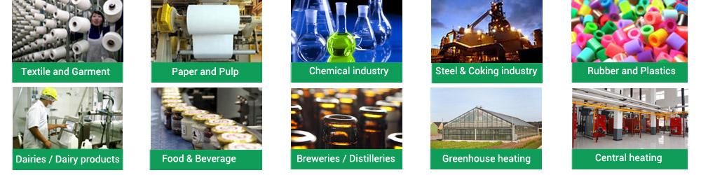 Aplicación de la caldera en diferentes industria